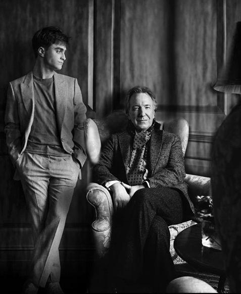 Daniel Radcliffe and Alan Rickman (Harry & Snape)