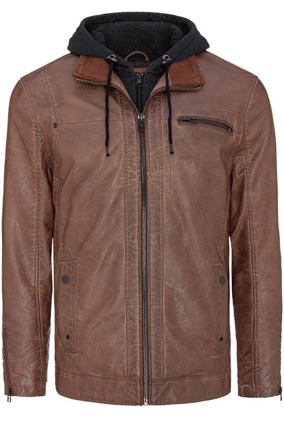 Riley Jacket PU fabric (poly imitation leather)