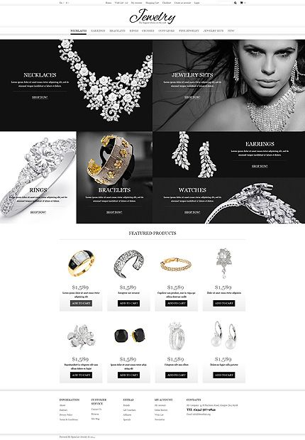 Template 49583 - Jewelry Store Responsive OpenCart Template #wordpress #themes
