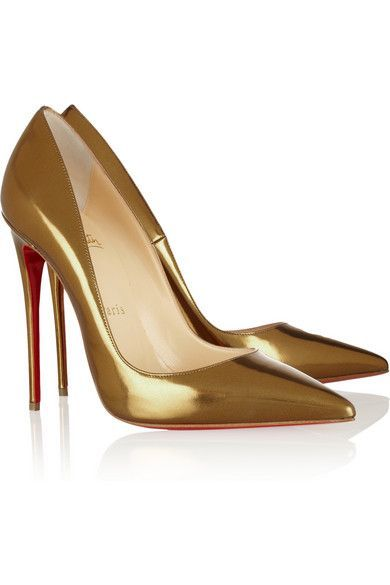 dfc4495f1b22 Christian Louboutin Metallic Gold So Kate. More