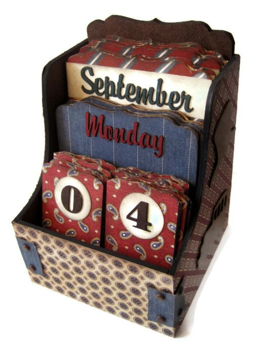Perpetual Calendar - A Proper Gentleman No tutorial--have to buy the container. Look more at this.