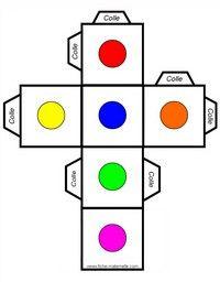 Dés à jouer avec les couleurs à fabriquer