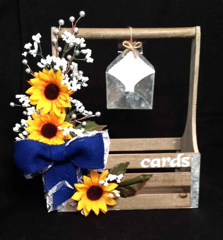 Sunflower WeddingSunflower Wedding InvitationSunflower Card BoxWedding Box