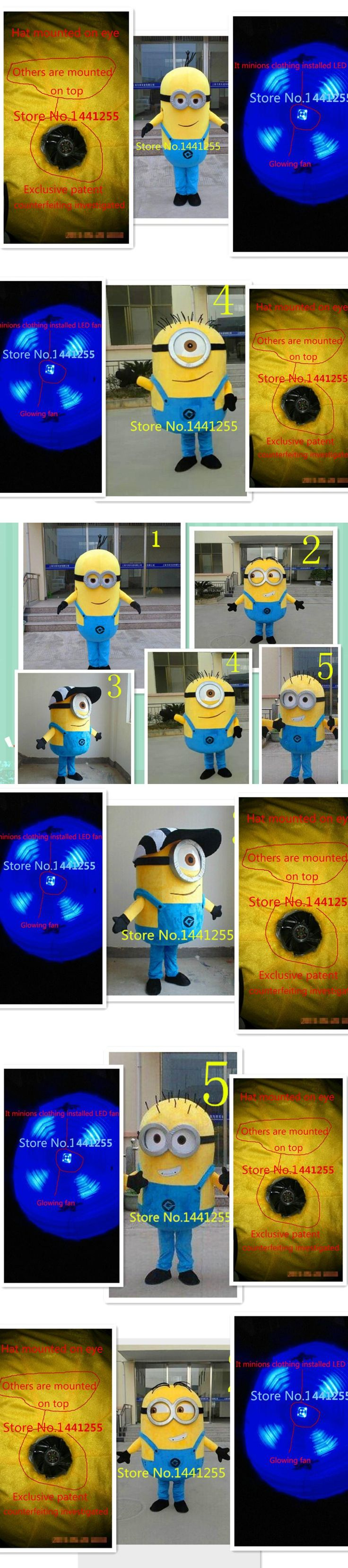 high quality Despicable me minion mascot costume for adults despicable me mascot costume EPE material fast shipping