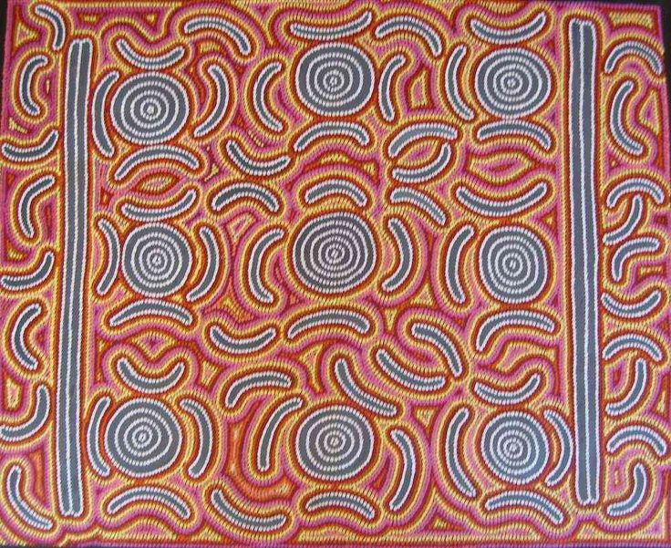 aboriginal art jannis collins bush seed dreaming