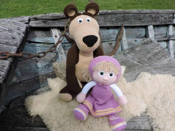 Amigurumi Crochet Pattern Masha And The Bear The por KiprePahkla