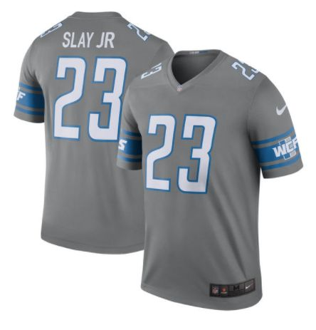 Men's Detroit Lions #23 Darius Slay Steel Nike NFL 2017 Color Rush Limited Jersey