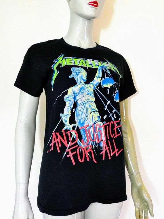 142c413c METALLICA Justice For All Shirt, S Small | Metallica | Vintage band ...