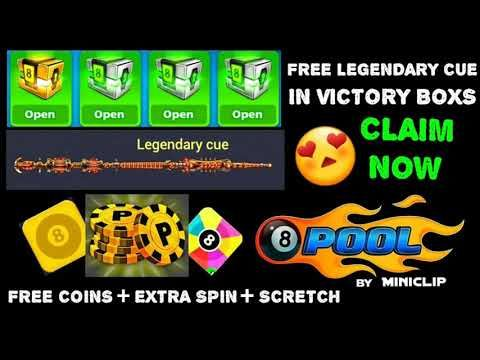 How to 8 ball pool || free legendary cue || reward || all