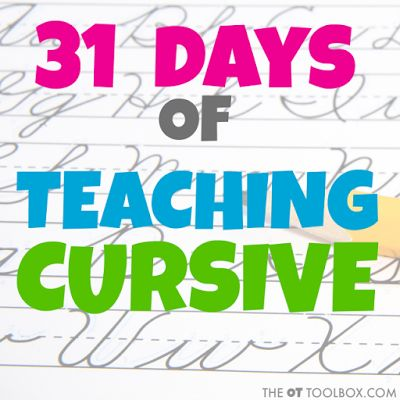 how to teach kids cursive writing