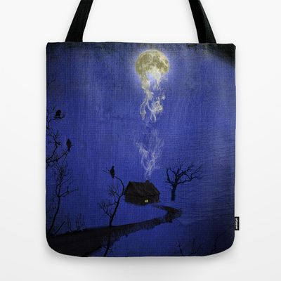Way to home Tote Bag by Oscar Tello Muñoz - $22.00