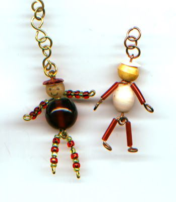 WireWorkers Guild: February 2012 - little bead and wire figures tutorial