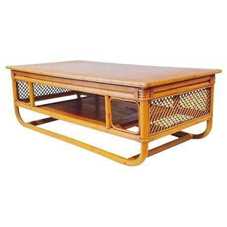 Reserved For Sarah Coffee Table Bamboo Bent Retro Tiki Lounge Meets Bohemian Modern Coastal Etsy Studio180