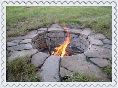 Low Profile and yet rustic for the yard.  Good Bonfire Pit!
