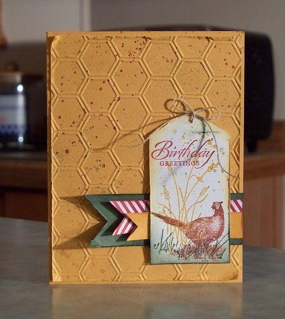 Masculine Birthday card using Walk in the Wild, Wetlands & Gorgeous Grunge stamp sets.