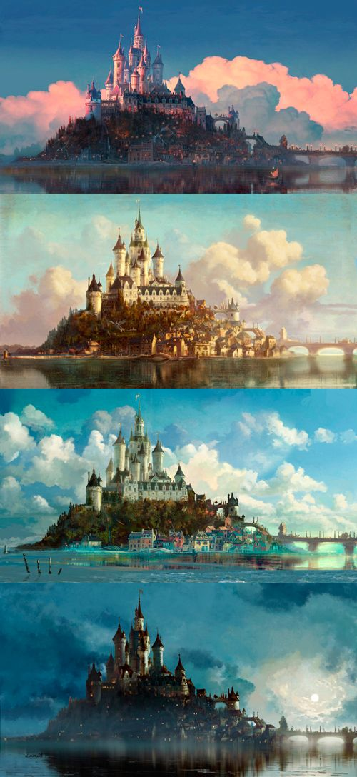 Tangled concepts: and this is why you always do different color keys before doing the final painting. Different colors affect mood.