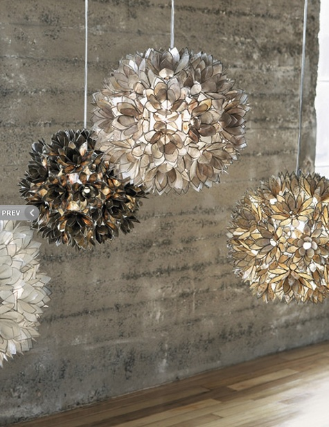 LOTUS PENDANTSDecor, Lotus Pendants, Lotus Lights, Crafts Ideas, Interiors Design, Capiz Shells, Living Room, Pendants Lights, Lotus Flower