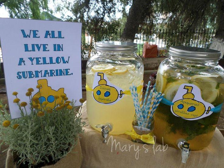 We all live in a yellow submarine με λεμονάδα και αρωματικό νερό!