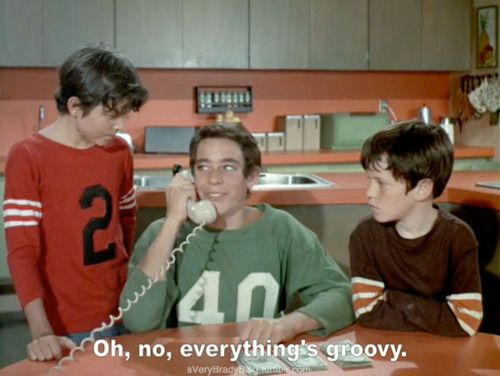 The Brady Bunch - Peter, Greg and Bobby during a Season 2 episode.
