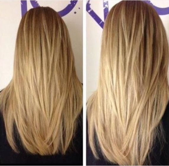 Getting this done. It looks like a lot of layers but hopefully it will take off some weight to my long straight across hair cut.