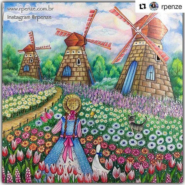 Perfeição! By @rpenze with @repostapp Livro Romantic Country - The second tale  #romanticcountrycoloringbook #romanticcountry #desenhoscolorir #coloringbook #eriy