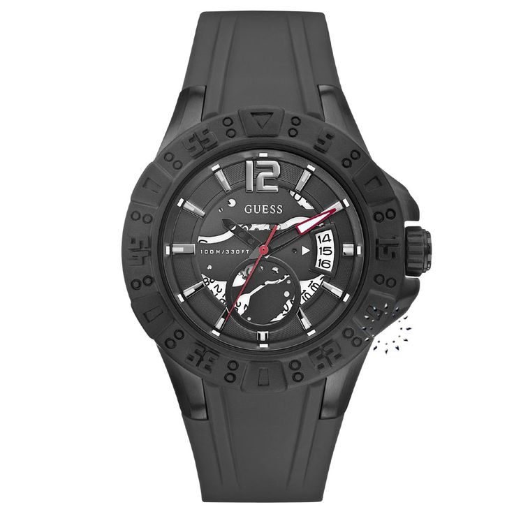 GUESS Date Black Rubber Strap Η τιμή μας: 129€ http://www.oroloi.gr/product_info.php?products_id=28405