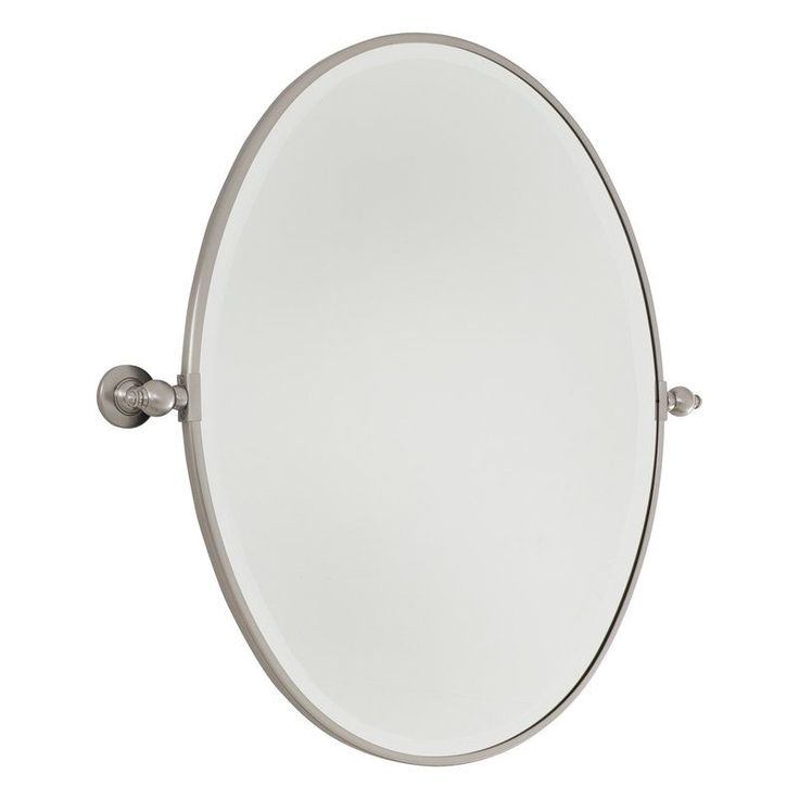 Images Photos Minka Lavery Large Oval Pivoting Bathroom Mirror Brushed Nickel Home Decor Mirrors Lighting