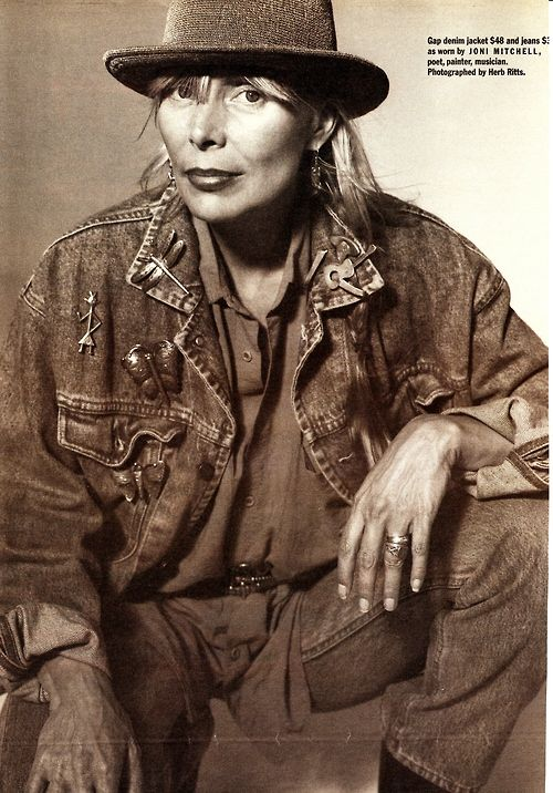 I have always been a fan of Gap's clothing, photography, and dedication to promoting peace. 1990 Gap ad. Frm bd: Joni Mitchell