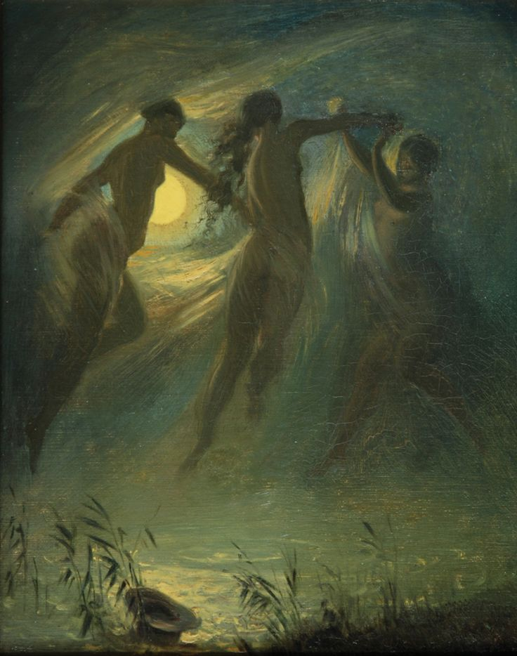 Josef Manes - Drowned, 1867, oil on canvas