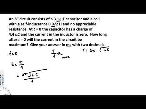 How long after t = 0 will the current in the circuit be maximum? - EM Fi...