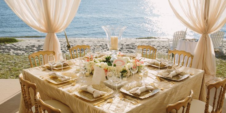 The Perfect Seaside Reception  - TownandCountryMag.com