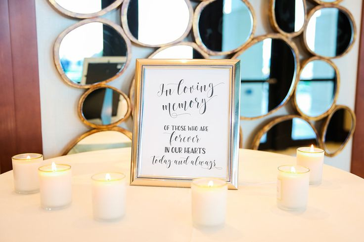 "This ""in loving memory"" table is a beautiful idea for honoring loved ones at your wedding (Scribbled Moments Photography)"
