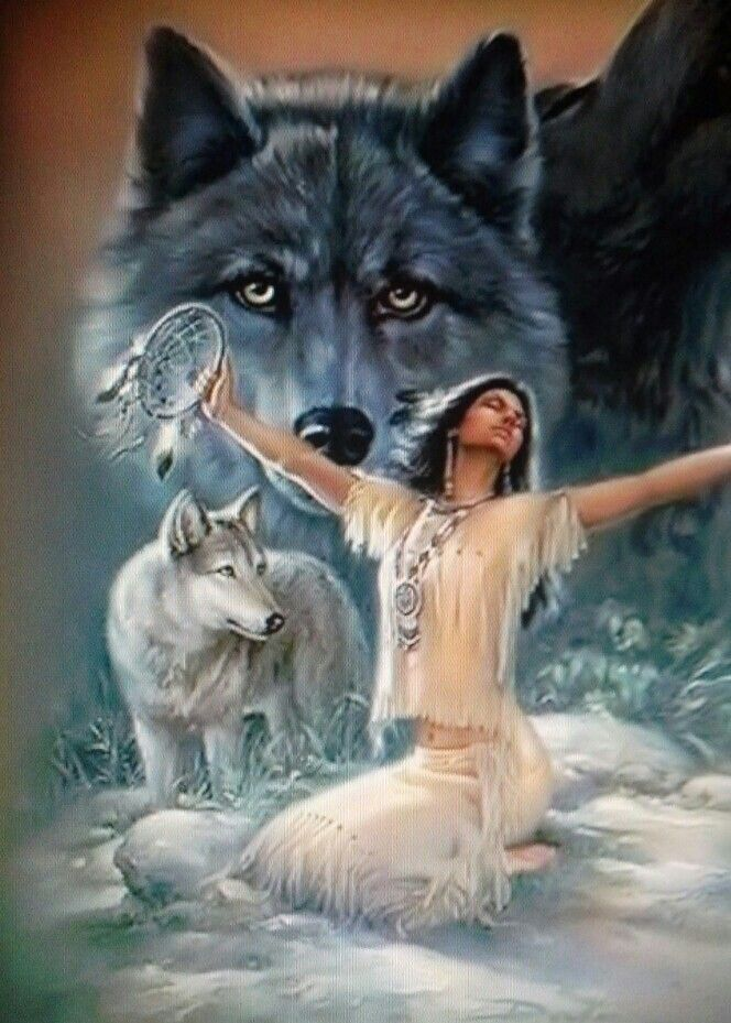 Wolf and Indian princess                                                                                                                                                                                 More