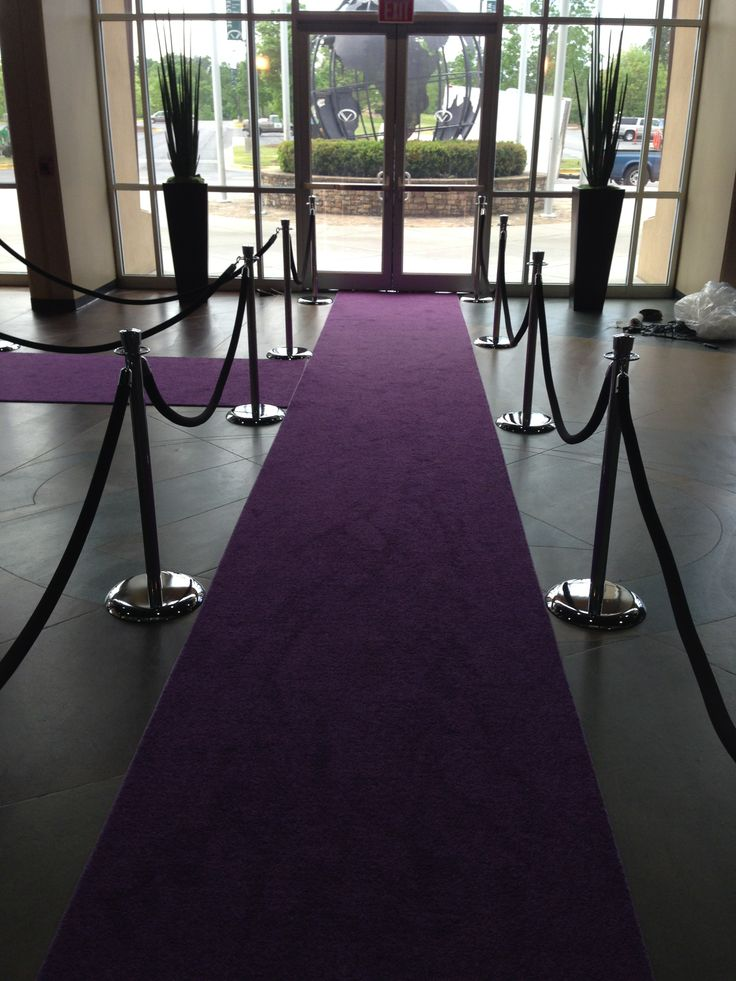 Atlanta Rental Royal Purple Carpet Runner Vip