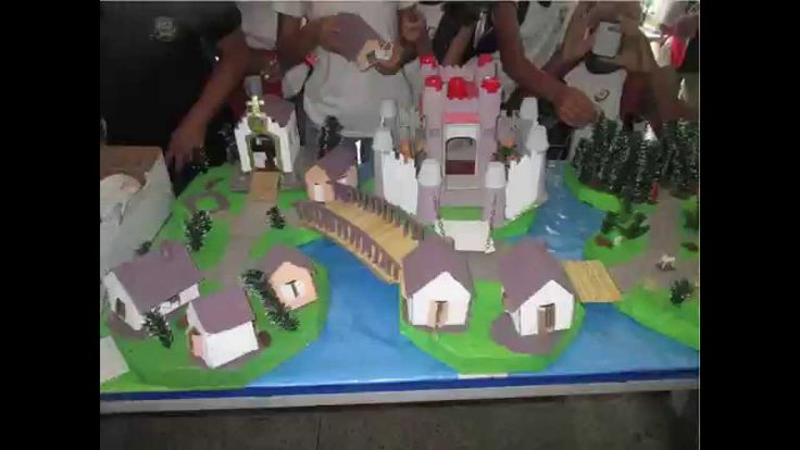 periodo medieval,maquete do feudo