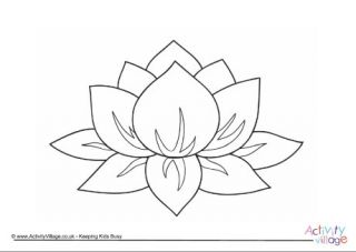 flower colouring pages - Lotus Flower Coloring Pages