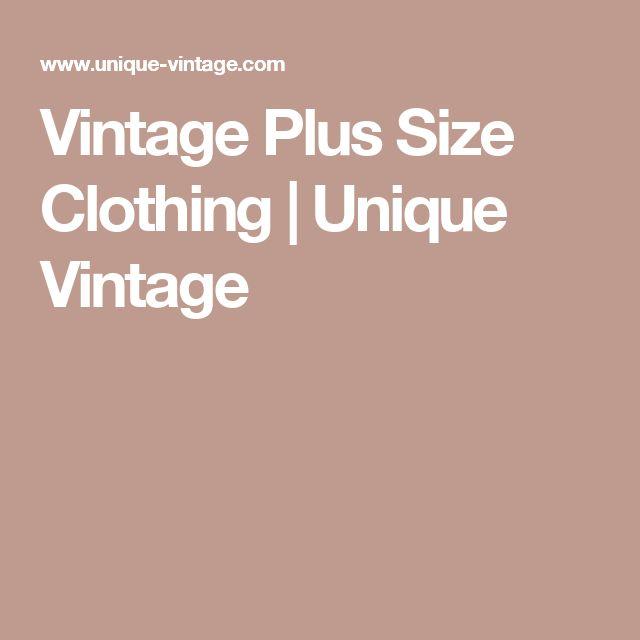Vintage Plus Size Clothing  | Unique Vintage
