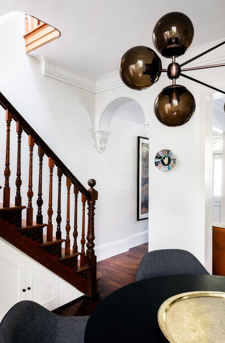 Staircase from Sydney terrace house renovation by TFAD. Photography: Tom Ferguson