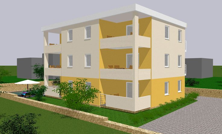 Building land with project for sale in Brodarica near Šibenik.  Project is for 6 apartments and bas...