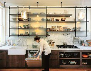 [キッチン収納]おしゃれなオープン棚収納のアイデア