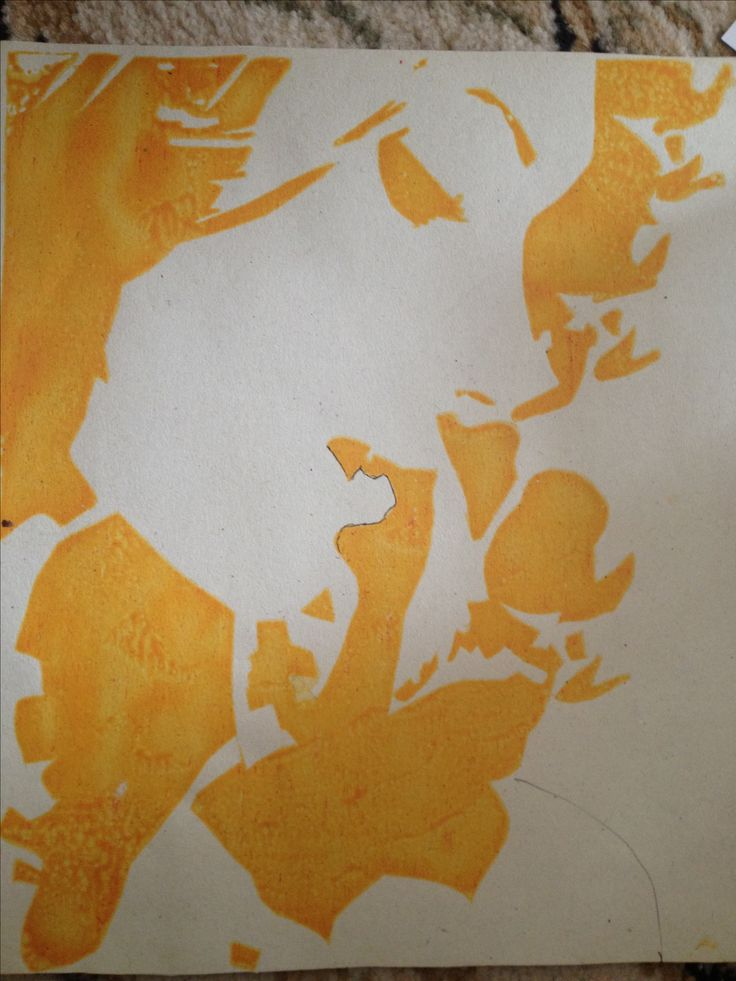 Print  Yellow screen print colour