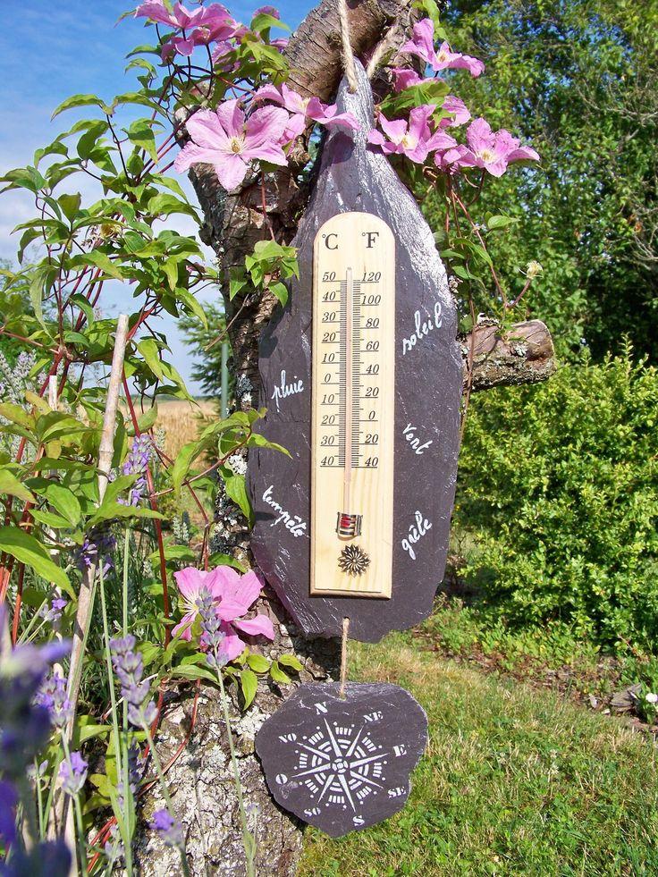 Les 25 meilleures id es de la cat gorie ardoise naturelle for Thermometre maison interieur