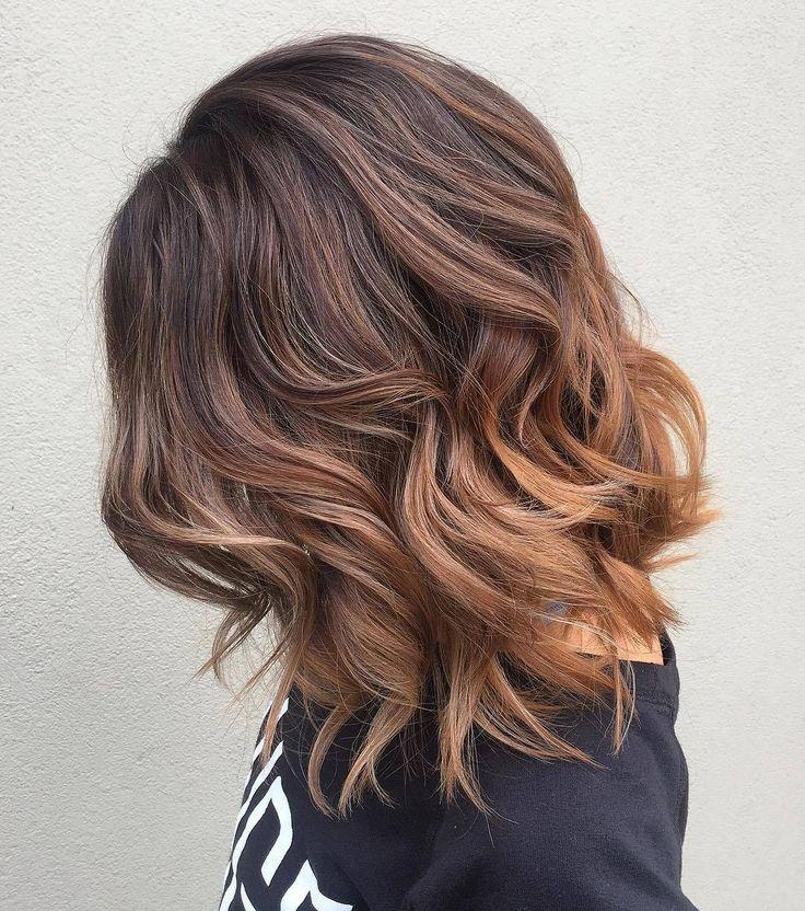 шатуш или омбре на темные волосы