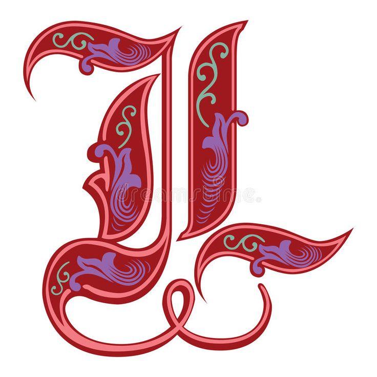 gothic  englisches alphabet geometrische malvorlagen