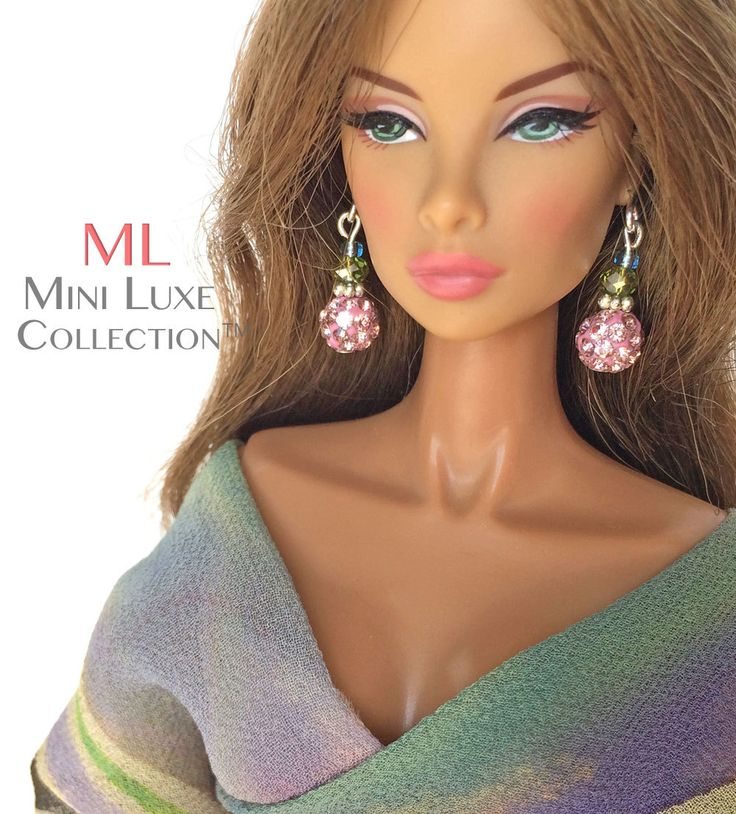 jewelry for doll Integrity Toys Fashion Royalty earrings Poppy Parker,Barbie