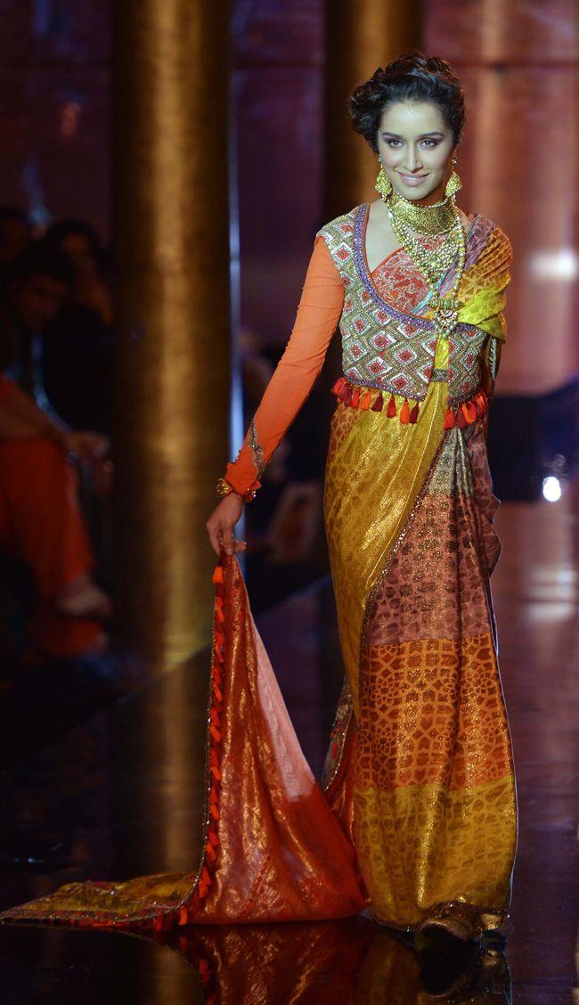 Shraddha Kapoor turns showstopper for JJ Valaya at the BMW India Bridal Week (IBFW) 2014. #Style #Bollywood #IBFW2014 #Fashion #Beauty