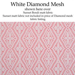 Diamond Mesh White 2
