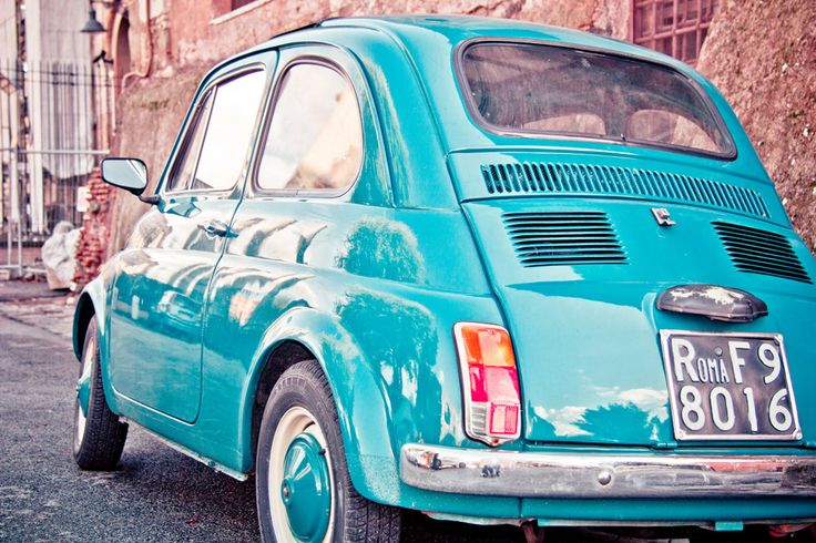 One day I will own this vintage Italian FIAT 500 and I will drive to Italy in it.