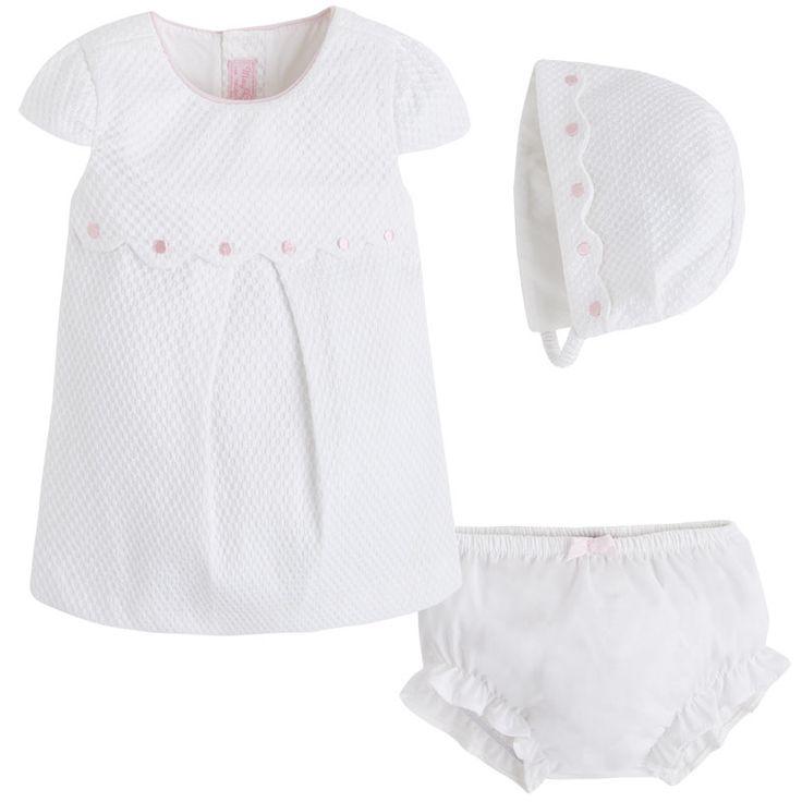 Art 26-01850-067 Vestido piqué Brancos - Mayoral