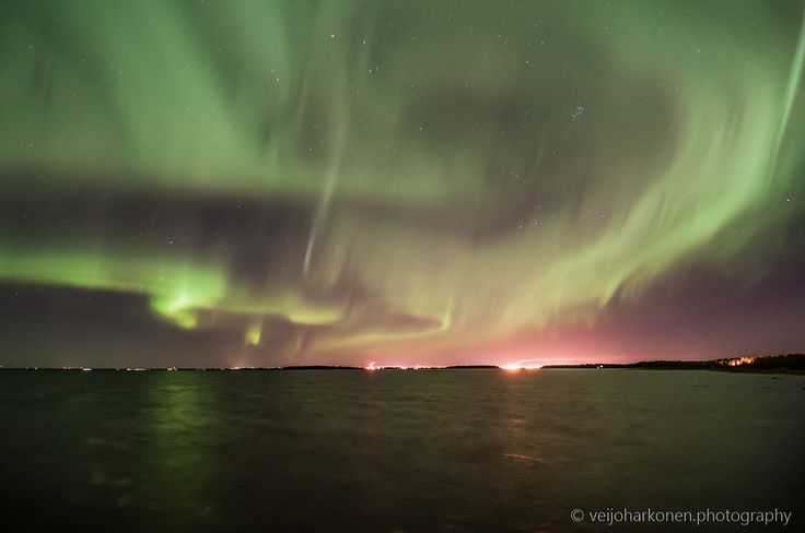 Northern Lights Dancing Over Oulu
